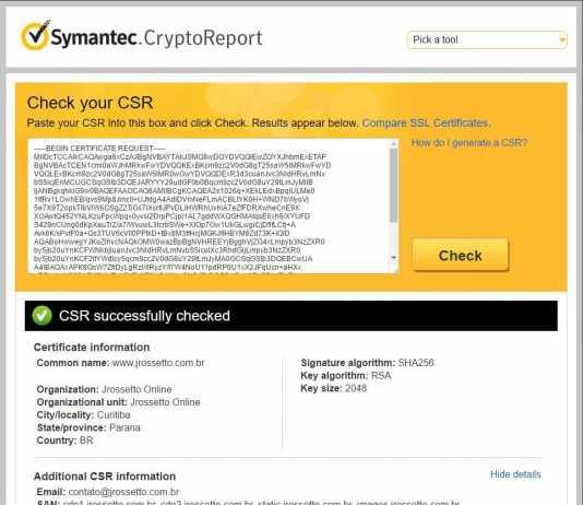 symantec report csr